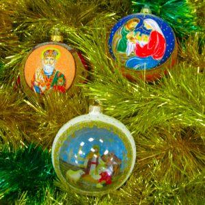 Шары пейзажные Рождественская серия в упаковке